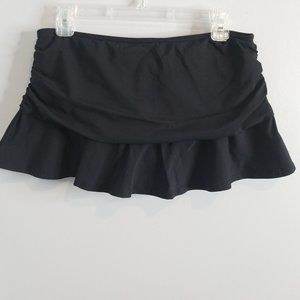 Lands' End black ruched Swimsuit Skirt 6